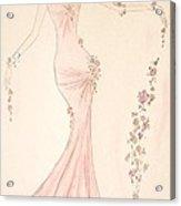 Floral Cascade  Acrylic Print by Christine Corretti