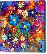 Floral Dance Fantasy Acrylic Print