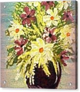 Floral Delight Acrylic Painting Acrylic Print