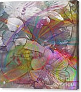 Floral Fantasy - Square Version Acrylic Print