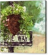 Floral - Flowers - One Way Acrylic Print