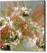 Floral Fractal 030713 Acrylic Print