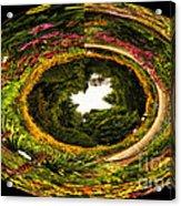 Floral Garden Polar View  02 Acrylic Print