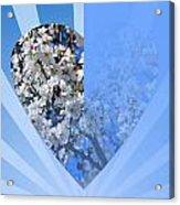 Floral Half Heart Acrylic Print
