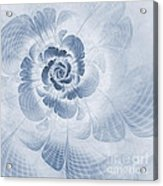 Floral Impression Cyanotype Acrylic Print