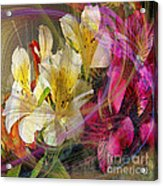 Floral Inspiration - Square Version Acrylic Print