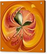 Floral Orange Orb Acrylic Print