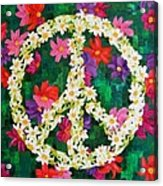 Floral Peace Pop Art Acrylic Print