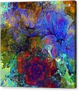 Floral Psychedelic Acrylic Print