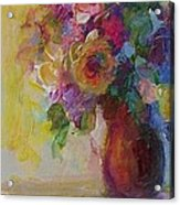Floral Still Life Acrylic Print by Mary Wolf