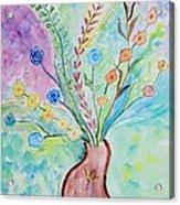 Floral Stream Acrylic Print