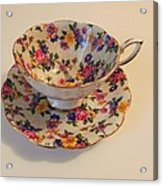 Floral Tea Cup Acrylic Print