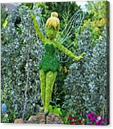 Floral Tinker Bell Acrylic Print