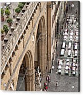 Florence And Piazza Della Signoria Acrylic Print