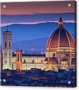 Florence Catherdral Duomo And City From Acrylic Print