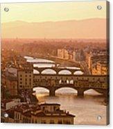 Florence City During Golden Sunset Acrylic Print