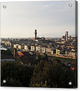 Florence Form The Piazza Michalengelo Acrylic Print