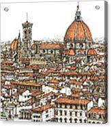 Florence In Colour Acrylic Print