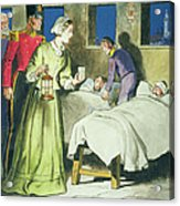 Florence Nightingale From Peeps Acrylic Print by Trelleek