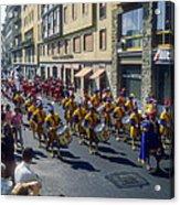 Florence Parade Acrylic Print