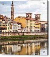 Florence Reflection Acrylic Print by Luis Alvarenga