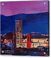 Florence Skyline Italy With Santa Maria Del Fiore Acrylic Print