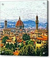 Florence Watercolor Acrylic Print
