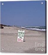 Florida At Melbourne Beach Acrylic Print