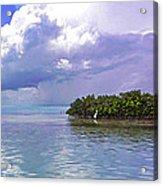 Florida Bay Island Filtered Acrylic Print