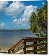 Florida Beach Sky Line. Acrylic Print