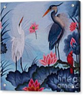 Florida Beauty Hand Embroidery Acrylic Print by To-Tam Gerwe
