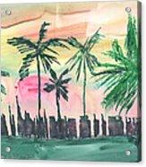 Florida City-skyline3 Acrylic Print