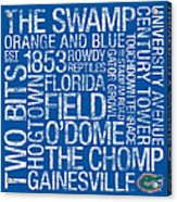 Florida College Colors Subway Art Acrylic Print by Replay Photos