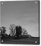 Florida Farmlands Black And White Acrylic Print