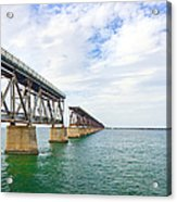 Florida Overseas Railway Bridge Near Bahia Honda State Park Acrylic Print