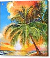 Florida Palm Sunset Acrylic Print