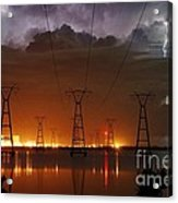 Florida Power And Lightning Acrylic Print by Lynda Dawson-Youngclaus