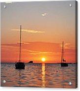 Florida Sailboat Sunset Acrylic Print