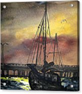 Florida Sailing Acrylic Print