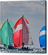 Florida Spinnakers Acrylic Print by Steven Lapkin
