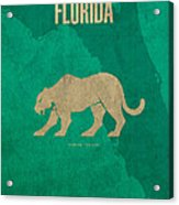 Florida State Facts Minimalist Movie Poster Art  Acrylic Print