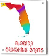 Florida State Map Collection 2 Acrylic Print