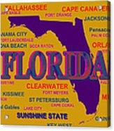 Florida State Pride Map Silhouette  Acrylic Print