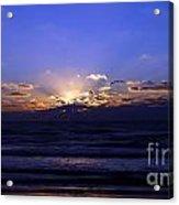 Florida Sunset Beyond The Ocean  II Acrylic Print