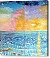 Florida Sunset Acrylic Print by Vicky Tarcau