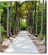 Florida Walkway Acrylic Print