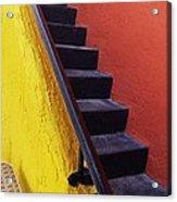 Florida Yellow And Orange Wall Stairs Acrylic Print