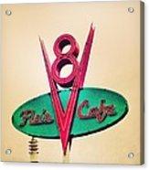 Flo's Cafe Acrylic Print