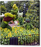Flower And Garden Signage Walt Disney World Acrylic Print