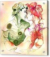 Flower And Leaf Acrylic Print